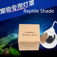 aluminium lampshade - Reptile Lamp Shade Pets Habitat Lighting Lamp Case Lampshade Aluminium Alloy Small Animal Supplies