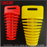 Wholesale Exhaust Stopper Muffler washing Plug For Wash to Dirt Pit bike Motorcycle ATV Parts use big small