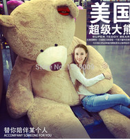 """Cheap Wholesale-260cm 102"""" HUGE BIG STUFFED ANIMAL TEDDY BEAR COVER PLUSH SOFT TOY PILLOW COVER(WITHOUT STUFF)"""