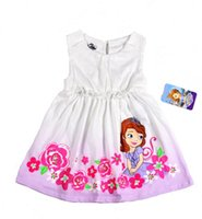 beautiful girls in skirts - Sofia princess girl dress skirt kid clothes sofia in the flower beautiful dress best gift for baby girl cotton