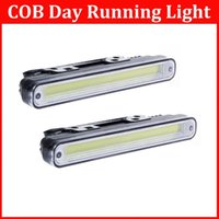 Cheap 1 Pairs Super Bright 12W Car Daytime Running Light COB Waterproof DRL DC 12V Driving Car Exterior Lights Lamp Bulb order<$18no track