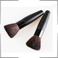 Wholesale Black Pro Foundation blush Liquid brush Kabuki Makeup Brush Set Cosmetics Tool With Copper Ferrule