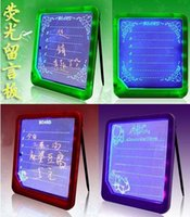 Cheap Free shipping LED Fluorescent Message Board LED Writing Board Electronic Advertising Boards Romantic Gifts