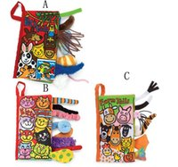 activity book - 21 cm Animal Tails cloth book Activity Book Baby Toy Cloth Development Books Learning Education Unfolding books D6675
