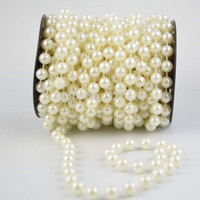 Wholesale 12mm ivory pearl beads String Garland for wedding decor accessories Meter roll