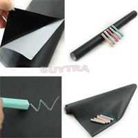 Wholesale 2014 New Portable Vinyl Chalkboard Practical Removable Blackboard Decals X45CM Chalkboard