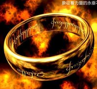 lord of the rings ring tungsten - 2015 Rushed Direct Selling Sale African Mexican Bohemian Gift European And American Fashion Lord of The Rings Tungsten Gold Ring Support