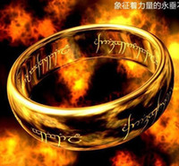 lord of the rings ring tungsten - 2016 Band Rings Bohemian Special Offer Band Rings African Mexican Gift European And American Fashion Lord of The Tungsten Gold Ring Support