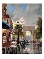 arc canvas - Modern painting Arc De Triomphe Avenue by Brent Heighton oil on Canvas high quality hand painted