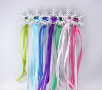 Wholesale Fairy Wand ribbons streamers Christmas wedding party snowflake gem sticks magic wands confetti party props decoration events favors Supplies