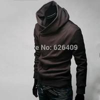 Wholesale High Collar Men s Jacket Top Brand Sweatshirt Dust Coat Hoodies Clothes cotton