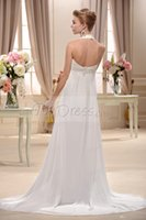 halter top wedding dress - 2015Plain Empire Halter Top Court Train Wedding Dress