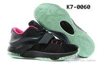 Cheap Kevin Durant Basketball Shoes KD 7 VII Good Apple Black Action Red Mint Athletics Shoes Cheap KD Sports Shoe Men Shoe Outdoors DHL Shippment