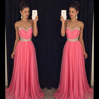 Cheap Cheap Bridesmaid Dresses 2016 Evening Dresses Sweetheart Ruffled Chiffon A Line New Arrival Wedding Party Dresses Evening Gown with Crystals