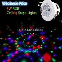 Wholesale 10pcs W RGB Stage Light Full Color LED Voice Activated Rotating DJ Disco Ceiling Lamp Home Party Stage Lights Nice Stage Lamp order lt no t