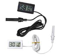 Wholesale New Moisture Meters White Black Mini Thermometer Hygrometer Gauge Humidity Meter Digital LCD Monitor VE150 W0 SUPS