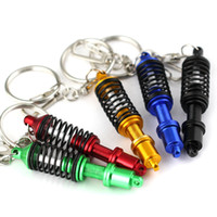 Wholesale 2015 Car Creativity springs Key chains DAMPER Keychain Key Rings Interior Accessories Pendant Keyholder Flex Coilover Tuning Keyrings