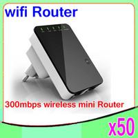 achat en gros de prix wifi répéteur-Prix le plus bas Portable Connexion Internet Mini Router 300Mbps Wireless-N avec WiFi Repeater 50PCS YX-YF-01