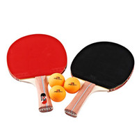 brand tennis racket - Brand Quality Table Tennis Rackets Pimples in Rubber Racket Long Handle Two Star Pingpong Paddle With BallsTB26128 Pimple In In