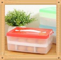 Wholesale 2015 New Sale No Food Basket Double Layer Plastic for Egg box Refrigerator Multifunctional Storage Box Portable kitchen storage