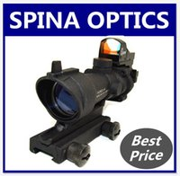 acog reflex sight - Tactical Airsoft ACOG Style TA01 NSN DOC x32 Rifle Scope w Reflex Dot Sight