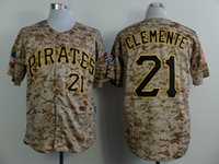 apparel new collection - Pirates Clemente Camo Baseball Jerseys Pittsburgh Team Athletics Baseball Uniform Discount Baseball Apparel New Collection