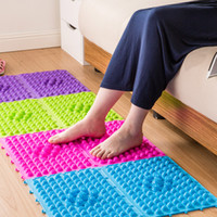 anti slip sheet - Multi Color Shiatsu Sheet Eco Friendly TPE Foot Massage Pressure Slab Toe Mat Pad Anti slip Bathroom Shower Mat SK757