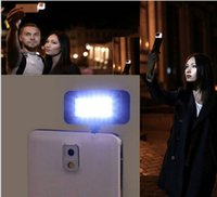 Wholesale LED FLASH for camera Phone monopod support for Photography selfie sync led Fill flash with smart phone led lights