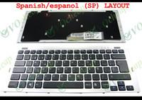 Nouveau clavier d'ordinateur portable pour Sony VGN SR VGN-SR400 SR140 SR190 SR220 SR240 SR390 avec cadre noir espagnol / espanol SP 148090161