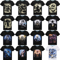 Wholesale high quality cotton mens tie dye d printing lol character various designs and colors t shirt top mens cotton t shirt
