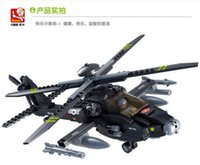 apache block - Plastic building block puzzle toy game birthday gift AH Apache helicopter pc