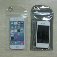 Cheap 10x20cm Ziplock Zipper Plastic Seal Strong Bag PVC Waterproof Retail Bags Fit iphone 6 plus samsung 4,5,6 and note 3,4