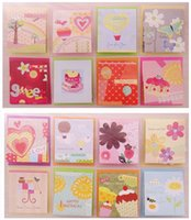 Wholesale Cards Kraft Envelopes Creative D Folding Handmade Greeting Cards Wishing Tree Christmas Gift Birthday Card