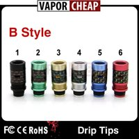acrylic carbons - DHL Delivery Colorful Delrin Acrylic Wide Bore Drip Tips With Carbon Fiber Aluminum Material Testing Tip Driptips VS kennedy