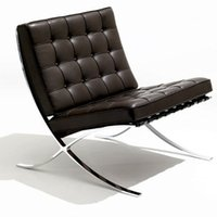 best leather chairs - Best fashion white leather Barcelona Chair color