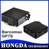 Wholesale 40PCS mini pocket projector barcomax GP7S led proyector with native p support P mini beamer projektor