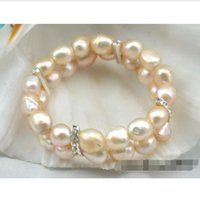 baby pearl stretch bracelets - gt gt gt Stretch row quot mm baroque baby pink pearl bracelet