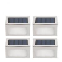 al por mayor luces led al aire libre paso-Impermeable LED solares LightSolar Led luces de inundación 2 LEDs de jardín Luces al aire libre del paisaje de césped lámpara solar Lámparas de pared Paso Luz 00930
