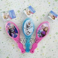 Wholesale NEWEST hot sale FROZEN Children gift Make up comb air bag massage combs hair brushing