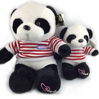 baby giant pandas - 30CM Red Stripe Navy Uniform Panda Plush Toys Creative Stuffed Doll Soft Giant Panda Toy Baby Favorite Factory Price NT031E