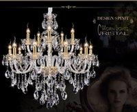 Wholesale European crystal Large chandelier Arm Luxury Modern Large Crystal Chandelier fashion Luxury transparent K9 Crystal