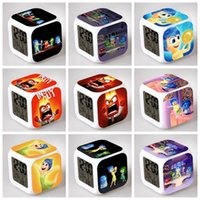 Wholesale 500PCS HHA262 Lovely styles Inside Out Alarm Clock MultiColor Cute Cartoon LED Clock Students Clock Inside Out digital clock