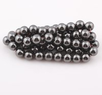 magnetic hematite beads - 100Pcs Round Black Magnetic Hematite Spacer Beads mm Diameter Magnetism Magnet Balls FEAL ZBE07