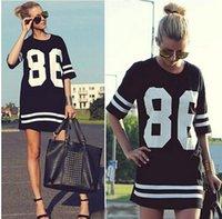 Cheap American Baseball Tee Summer Women Celebrity 86 Oversized T Shirt Top Short Sleeve Loose Blusas Roupas Femininas