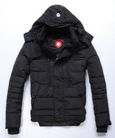 Wholesale Fall Wellensteyn Men s Casual Thickening Warm Camouflage Hooded Down Jackets Winter New Fashion Male Parkas Coats Outerwear Man
