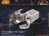 Wholesale DIY D Models Star wars ATAT Tie Fighter Kits Metallic Nano Puzzle no glue required For adult and kids Chirstmas gift styles DHL Free A