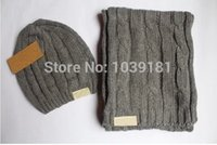 winter hat scarf and glove set - new Men s and women s new winter warm hat scarf two piece hat scarf Two piece