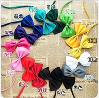 Wholesale Hot pet Dog Neck Tie Dog Bow Ties for christmas festival party Cat Tie Supplies Pet Headdress adjustable bow tie pet jewelry accessories