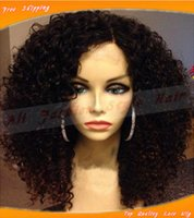 afro wigs - Top quality synthetic lace front wig glueless heat resistant Afro kinky curly synthetic wigs with baby hair for black women