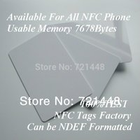 Wholesale 100pcs DESFire EV1 k NFC tag for part of NFC phone NFC Forum Type tag NFC card Usable Memory Bytes